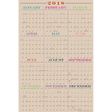 2018 Full Year Laminate Calendar