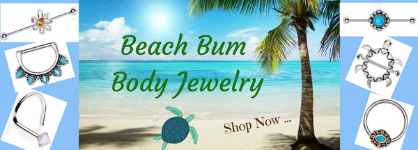 Beachy Body Jewelry - Summer Nipple and Nose Rings / Summer Body Piercing Jewelry that's Definitely Beach Worthy & Fun - Beachy Nipple Rings to Nose Jewelry to cool Industrial Barbells.