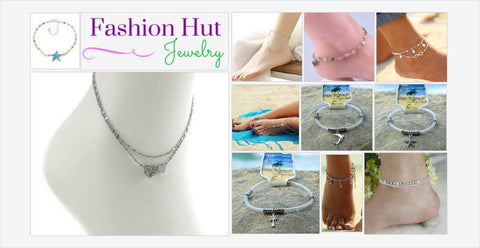 anklets - summer anklets - Fashion Hut Jewelry
