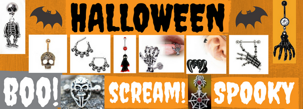 All your Halloween Body Jewelry & Spooky Fashion Jewelry Needs to scare up some fun