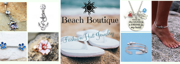 Beach Boutique Summer Body Jewelry and Fashion Jewelry. Summer Themed Fashion Jewelry & Body Jewelry from Summer Anklets and Toe Rings to Beachy Belly Rings, Cute Cartilage Earrings and More!