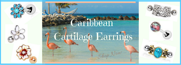 Cartilage Earrings and Cartilage Piercing Jewelry