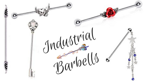 Our Industrial Barbell Piercing Body Jewelry Collection has spirals, snakes and flower Industrial Barbells plus other varieties for your Industrial Barbel Piercing.