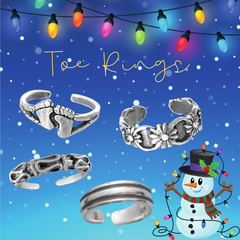 Sterling Silver Toe Rings Adjustable Toe Ring in a variety of shapes and sizes