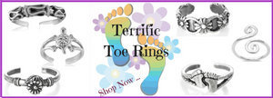 Toe Rings - Sterling Silver Toe Ring - Fashion Hut Jewelry