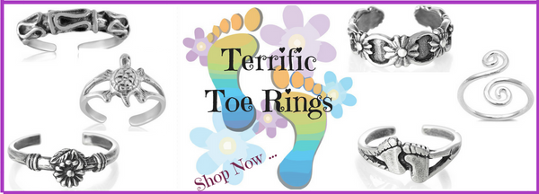 Toe Rings that are adjustable and shimmer and shine
