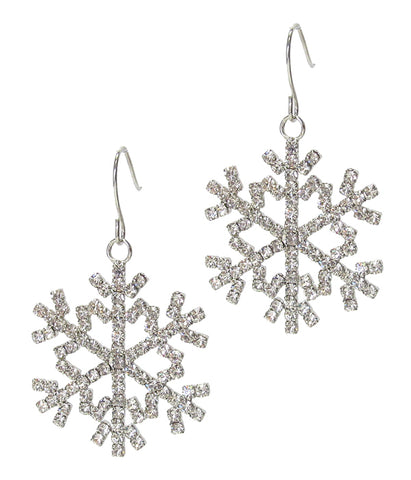 Snowflake Dangle Crystal Earrings - Fashion Hut Jewelry
