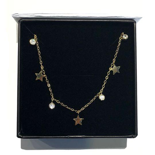 Crystal Stars Drop Choker - Fashion Hut Jewelry