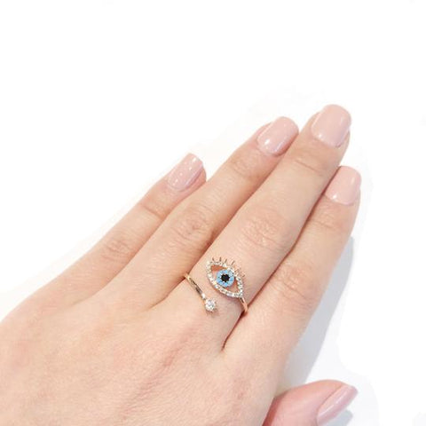 Eye Star Ring Adjustable - Fashion Hut Jewelry