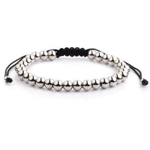 Polished Stainless Steel Men's Adjustable Bracelet - Fashion Hut Jewelry