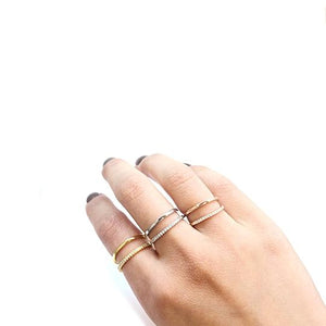 Double Row Open Ring - Fashion Hut Jewelry