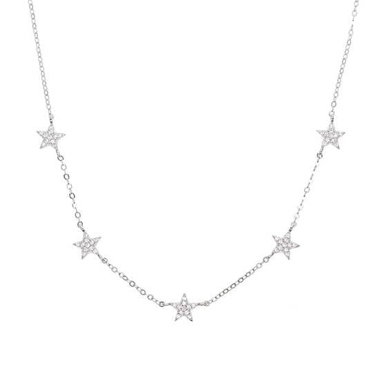 CZ Stars Choker - Fashion Hut Jewelry