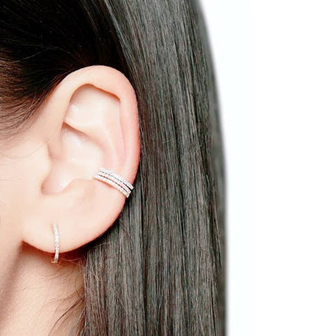 CZ Diamond Ear Cuff - Fashion Hut Jewelry