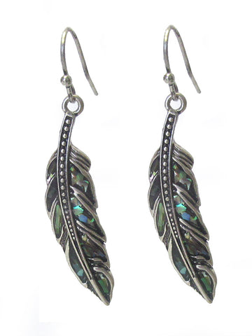 Abalone feather earring