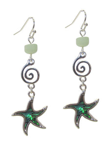Sea Life theme Abalone Earrings - Starfish
