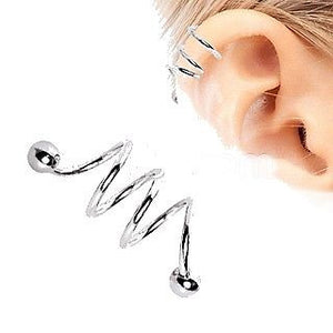 Triple Coil Twist Cartilage Earring Cartilage Piercing - Fashion Hut Jewelry