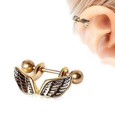 Angel Wing Cartilage Cuff Cartilage Piercing - Fashion Hut Jewelry