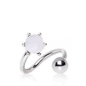 Pearl Twist Navel Belly Ring - Fashion Hut Jewelry
