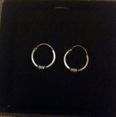 10mm Sterling Silver Endless Hoop Earrings - (1 Pair) - Fashion Hut Jewelry