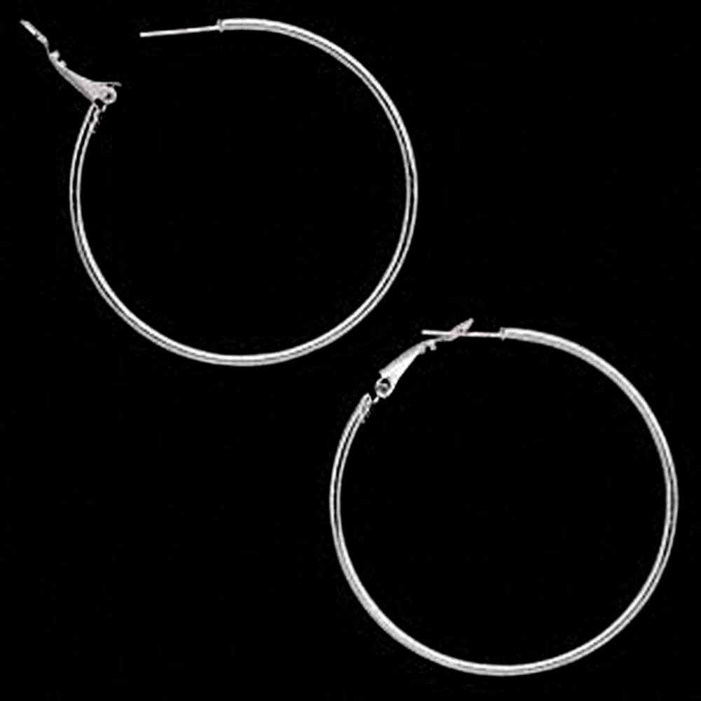 50mm Surgical Steel Stainless Hoop Earrings - Fashion Hut Jewelry