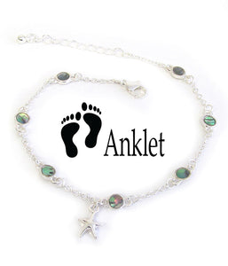 Abalone Starfish Anklet Ankle Bracelet - Fashion Hut Jewelry