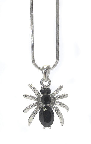 Crystal Spider Pendant Necklace - Fashion Hut Jewelry
