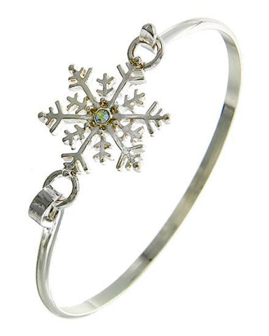 Snowflake Cuff Hook Bangle Bracelet - Fashion Hut Jewelry