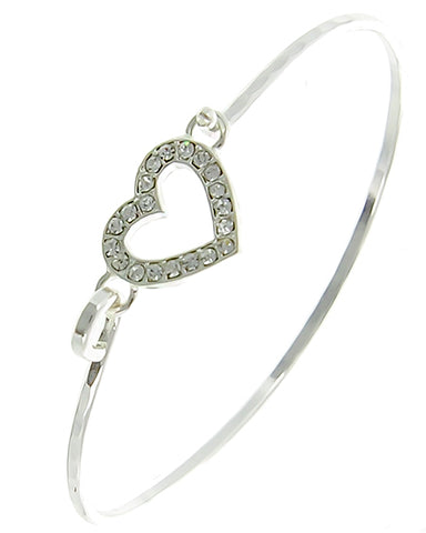 Rhinestone Heart Bracelet - Fashion Hut Jewelry