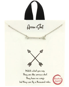 Arrow Necklace - Fashion Hut Jewelry
