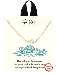 Sea Wave Necklace - Fashion Hut Jewelry