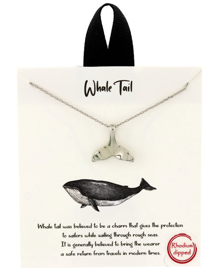 Whale Tail Necklace - Fashion Hut Jewelry