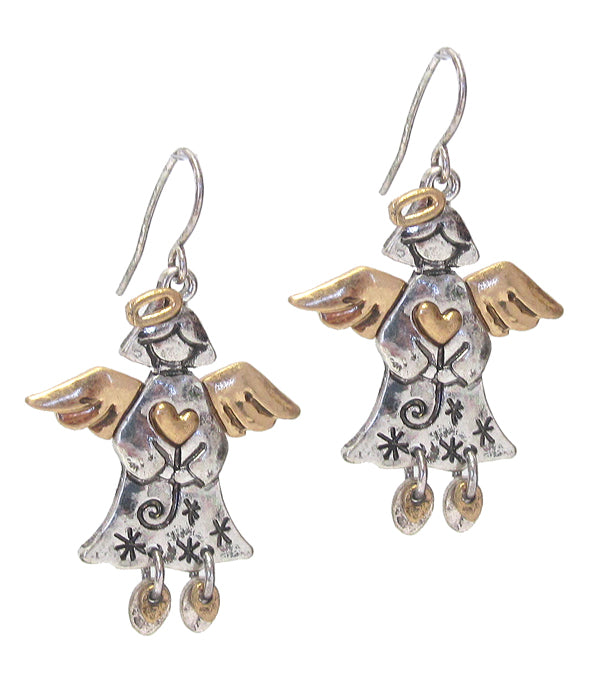 Christmas Angel Earrings - Fashion Hut Jewelry