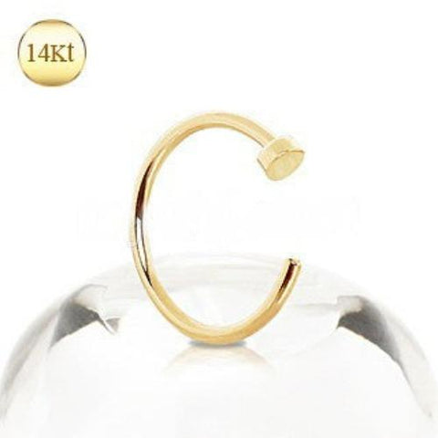 14Kt Yellow Gold Nose Hoop Ring - Fashion Hut Jewelry