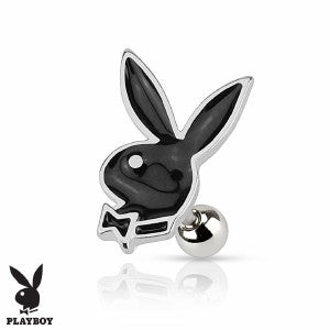 Playboy Bunny 316L Surgical Steel Cartilage Earring /Tragus Barbell - Fashion Hut Jewelry