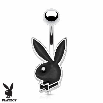 Playboy Bunny Belly Ring - Black - Fashion Hut Jewelry