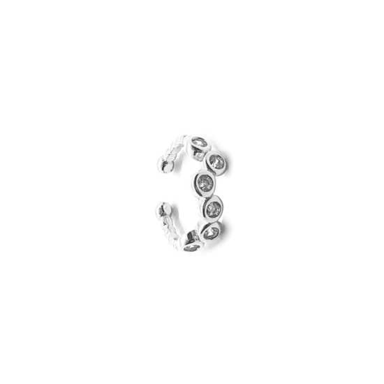 CZ Circles Ear Cuff - Fashion Hut Jewelry