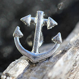 316L Stainless Steel Nautical Anchor Cartilage Earring - Fashion Hut Jewelry