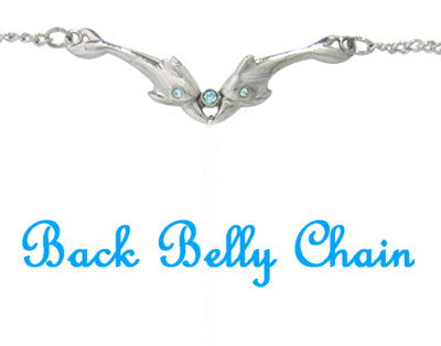 Double Dolphin Back Belly Chain - Fashion Hut Jewelry