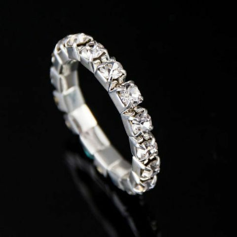 Clear Crystal Stretch Toe Ring - Fashion Hut Jewelry