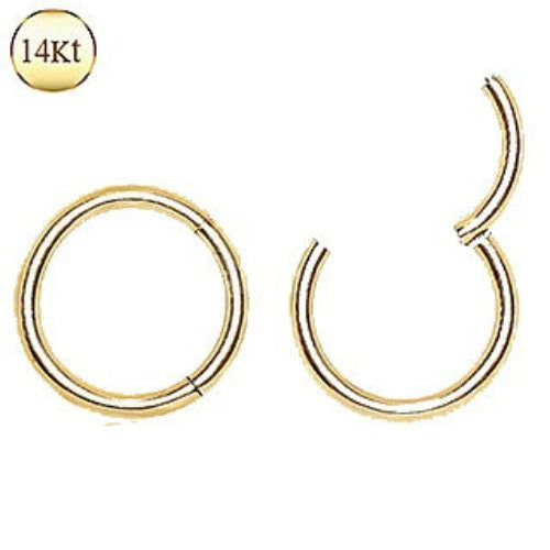 14Kt. Yellow Gold Seamless Clicker Ring - Fashion Hut Jewelry