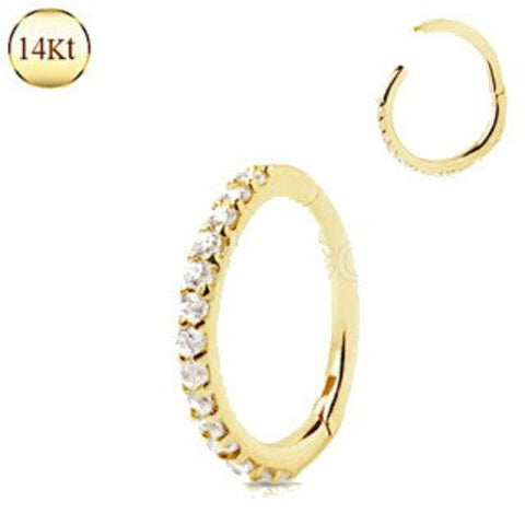 14Kt. Yellow Gold Multi-Jeweled Seamless Clicker Ring