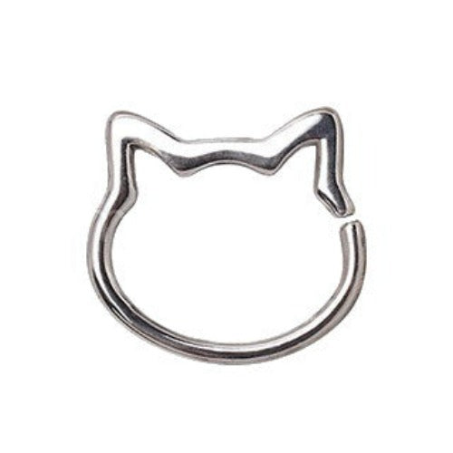 316L Stainless Steel Cat Seamless Ring / Cartilage Earring - Fashion Hut Jewelry