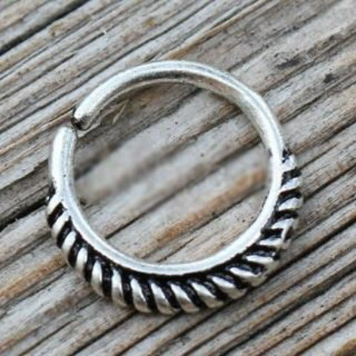 316L Stainless Steel Braiding Design Seamless Ring / Septum Jewelry - Fashion Hut Jewelry