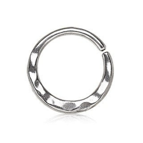 316L Stainless Steel Uneven Look Surface Seamless Ring / Septum Ring - Fashion Hut Jewelry
