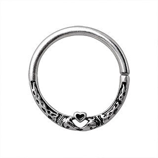 316L Stainless Steel Snake Heart Seamless Ring - Fashion Hut Jewelry