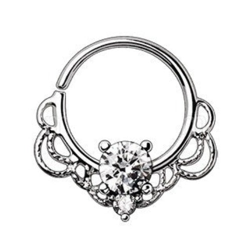 316L Stainless Steel Made for Royalty Ornate Seamless Ring - Fashion Hut Jewelry