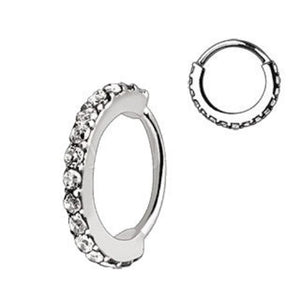 316L Stainless Steel Multi-Jeweled Annealed Seamless Ring - Fashion Hut Jewelry