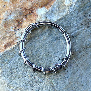 316L Stainless Steel Twisted Wire Seamless Ring - Fashion Hut Jewelry