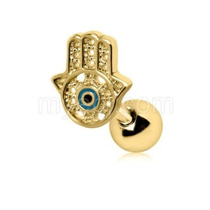 All-Seeing Hamsa Hand Cartilage Earring - Fashion Hut Jewelry
