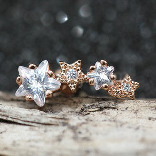 Rose Gold Shooting Star Cartilage Earring - Fashion Hut Jewelry